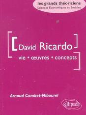 David Ricardo Vie Oeuvres Concepts - Intérieur - Format classique
