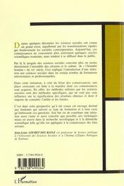 Initiation Aux Methodes Des Sciences Sociales - 4ème de couverture - Format classique