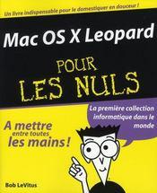 Mac OS X léopard pour les nuls - Intérieur - Format classique
