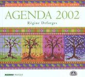 Point de croix sur le thème de l'arbre ; agenda 2002 - Intérieur - Format classique