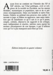 Histore de Normandie t.4 ; publiée pour la première fois en français en 1826 par M. Guizot - 4ème de couverture - Format classique