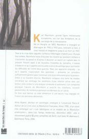 Karl Mannheim ; idéologie, utopie et connaissance - 4ème de couverture - Format classique