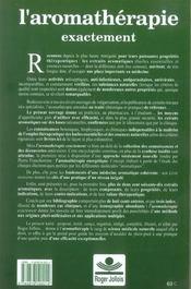 Aromatherapie exactement - 4ème de couverture - Format classique
