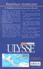 Republique Dominicaine - 4ème de couverture - Format classique