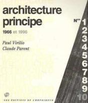 Architecture Principe 1966 Et 1996 - Couverture - Format classique