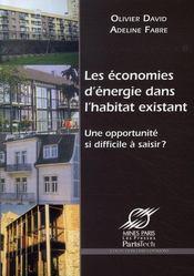 Les économies d'énergie dans l'habitat existant ; une opportunité si difficile à choisir ? - Intérieur - Format classique