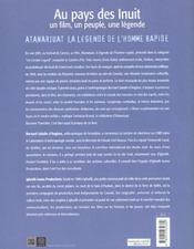 Atanarjuat La Legende De L'Homme Rapide - 4ème de couverture - Format classique