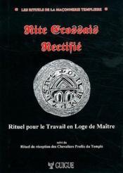 Rite Ecossais Rectifie - Couverture - Format classique