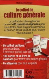 Le coffret de culture générale - 4ème de couverture - Format classique