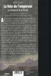 La voix de l'empereur t.2 ; le poignard et la hache - 4ème de couverture - Format classique