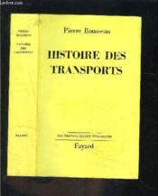 Histoire Des Transports - Couverture - Format classique