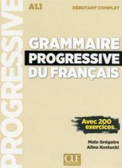 Grammaire progressive du francais debutant complet 3ed + cd - Couverture - Format classique