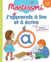 J'apprends à lire et à écrire Montessori - Couverture - Format classique