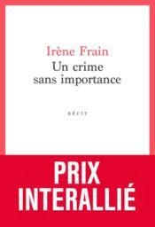 Un crime sans importance - Couverture - Format classique