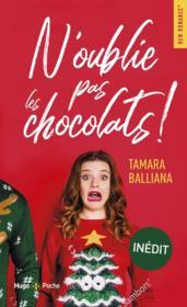 N'oublie pas les chocolats ! - Couverture - Format classique