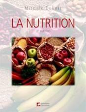 La nutrition (3e édition) - Couverture - Format classique