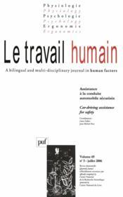 Revue Le Travail Humain N.69/3 - Couverture - Format classique