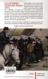 La guerre contre Paris 1871 - 4ème de couverture - Format classique