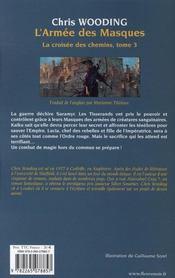 L'armée des masques - 4ème de couverture - Format classique