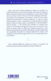 Les Contrats Judiciairement Formes - 4ème de couverture - Format classique
