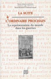 La Suite A L'Ordinaire Prochain - Couverture - Format classique