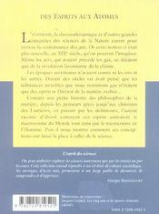 Des Esprits Aux Atomes Une Histoire Des Conceptions De La Matiere No26 - 4ème de couverture - Format classique