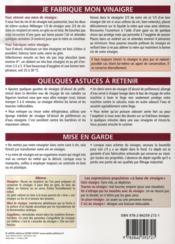 Le vinaigre et ses bienfaits - 4ème de couverture - Format classique
