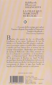 La Fille Qui Marchait Sur L'Eau - 4ème de couverture - Format classique