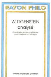 Wittgenstein Analyse - Couverture - Format classique