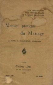 Manuel pratique du mariage - Couverture - Format classique