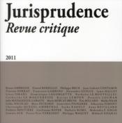 JURISPRUDENCE ; revue critique - Couverture - Format classique