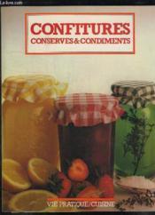 Confitures Conserves Et Condiments. - Couverture - Format classique