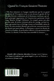 Quand les français faisaient l'histoire - 4ème de couverture - Format classique