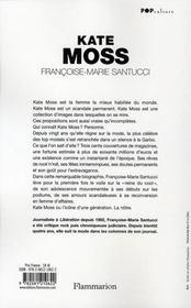 Kate Moss - 4ème de couverture - Format classique