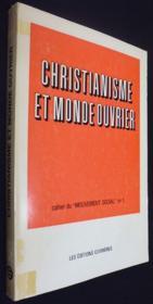 Christianisme et monde ouvrier - Couverture - Format classique