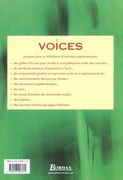 Voices 1re l es s fichier elev - 4ème de couverture - Format classique