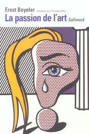 La passion de l'art entretiens avec christophe mory - Intérieur - Format classique