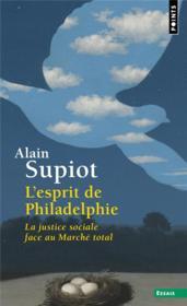 L'esprit de Philadelphie : la justice sociale face au marché total - Couverture - Format classique