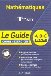 Mathematiques ; terminale stt ; cours et exercices - Intérieur - Format classique