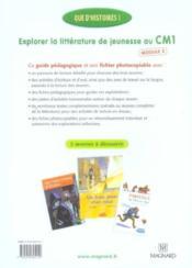 Que d'histoires ! ; explorer la littérature de jeunesse au CM1 ; module 2 ; guide pédagogique et fichier photocopiable (édition 2006) - Couverture - Format classique