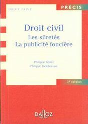 Droit Civil ; Les Suretes ; La Publicite Fonciere - Intérieur - Format classique