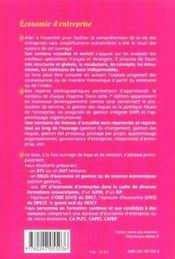 Economie d'entreprise (7e edition) - 4ème de couverture - Format classique