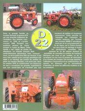 Tracteurs Renault D22, 1955/1968 - 4ème de couverture - Format classique