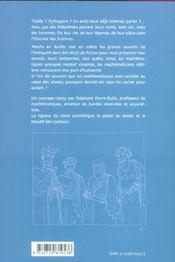 Maths en bulles ; Thalès, Pyithagore, Euclide, Archimède - 4ème de couverture - Format classique