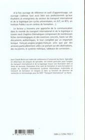Communiquer En Anglais Dans Le Monde Du Transport International Et De La Logistique Bts Iut - 4ème de couverture - Format classique