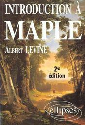 Introduction A Maple 2e Edition - Intérieur - Format classique