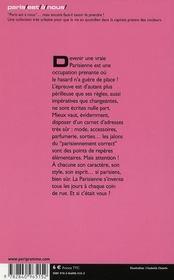 Comment devenir une vraie parisienne (édition 2008) - 4ème de couverture - Format classique