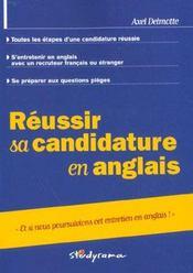 Reussir sa candidature en anglais - Intérieur - Format classique