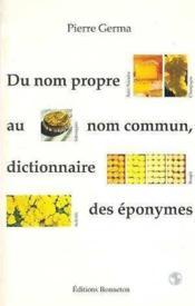 Dictionnaire des eponymes - Couverture - Format classique