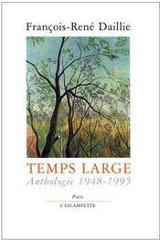 Temps Large - Couverture - Format classique